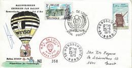 Courrier Par Ballon (montgolfière). 1979. Proven => Hondschoote. Pilote:Vandenberghe. MPI De Lovie. - Aéreo