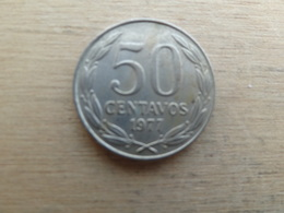 Chili  50  Centavos  1977  Km 206 - Chile