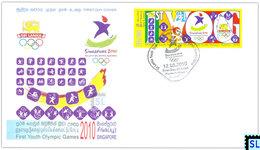 Sri Lanka Stamps 2010, World First Youth Olympic Games, Singapore, FDC - Sri Lanka (Ceylon) (1948-...)