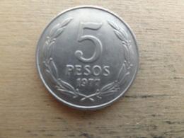 Chili  5  Pesos 1977  Km 209 - Chili