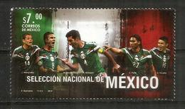 FOOTBALL. Selection Nationale Du Mexique (Marquez,Peralta,Hernandez,Layùn) 2014. Timbre Neuf ** - Football