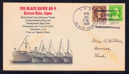 "US Navy, USS""BLACK HAWK"" (AD-9)1934, Kobe Japan, Photo-Cachet !! Look Scan !! 13.11-95 - Ships"