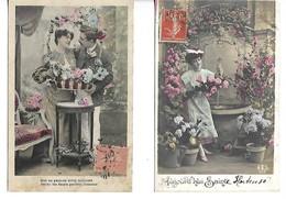 Série 2 Cartes Anciennes écrites 1907 Amoureux Hortense - Humour