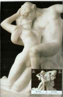 Auguste Rodin : LE BAISER.  Carte-maximum Mexique - Sculpture