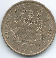 Monaco - 1989 - 10 Francs - Rainier III - Prince Pierre Foundation - KM162 - Monaco
