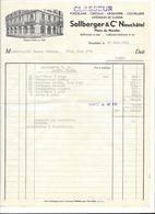 F115 - Neuchâtel Sollberger  Maison Fondée 1848 2 Factures Boudry 1951et 1952 - Suisse
