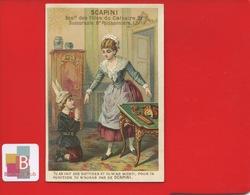SCAPINI Biscuits Macarons Paris Milan Venise Chromo Sicard ? Enfant Puni Punition Bonnet âne - Other