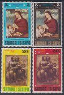 Samoa N° 288 / 91 XX Noël,  Les 4 Valeurs Sans Charnière, TB - Samoa