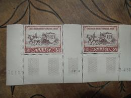 Tag Der Briefmarke 1950 Journée Timbre Paire Coin Daté 3.4.50 état Neuf Saarland - Ungebraucht