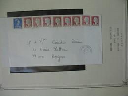 Lettre 1987  Marianne De Decaris  N°1263  Cachet Ceilhes Et Rocozels (34)  Avec Complément Affranchissement - 1961-....