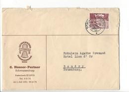 F116 - Schwarzenburg G Hauser Portner Leinenhaus Facture Et Enveloppe 1951 - Suisse