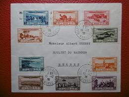 POSTE AERIENNE LETTRE CACHET MEKNES VILLE NOUVELLE MAROC 1928 SUPERBE - Morocco (1891-1956)