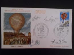 Theme Montgolfiere , Centenaire Des Ballons Montes 1971 , Diverses Signatures - Fesselballons