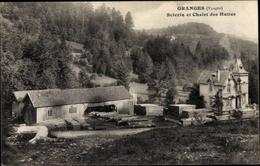 Cp Granges Vosges, Scierie Et Chalet Des Huttes - France