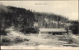 Cp Granges Vosges, Scierie Du Saut Des Huttes - France