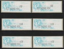 NOUVELLE CALEDONIE - Timbres De Distributeurs Amiel - N°3 (2003) 6 Valeurs Différentes - 98343 - - Viñetas De Franqueo