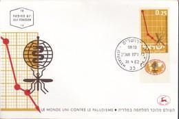 Israele 1962 N. 253-FDC-lotta Contro La Malaria. - Israele