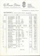 F119 - Rechnung Hauser Portner Schwarzenburg 1952 1951 - Suisse