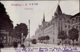 Cp Strasbourg Straßburg Elsass Bas Rhin, Hauptpostamt - France