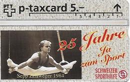 PTT-p: KP-93/56ZC 525L Stiftung Schweizer Sporthilfe - Kunstturnen, Ringe - Svizzera