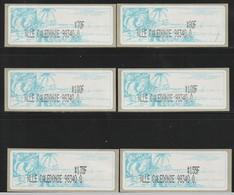NOUVELLE CALEDONIE - Timbres De Distributeurs Amiel - N°3 (2003) 6 Valeurs Différentes - 98340 0 - - Viñetas De Franqueo