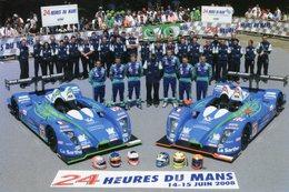 24 Heures Du Mans 2008  -  Team Pescarolo Sport - Pilotes:Boullion-Collard-Dumas-Primat-Tinseau-Treluyer  -  Carte Promo - Le Mans