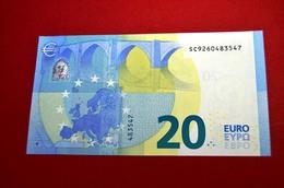 20 EURO ITALIA - S013 I4 - S013I4 - SC9260483547 - ITALY - UNC - FDS - NEUF - 20 Euro