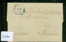 VOORLOPER * BRIEFOMSLAG Uit 1851 Gelopen Van GORINCHEM Naar HAARLEM  (11.530) - Nederland