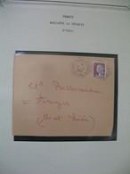 Lettre 1962  Marianne De Decaris  N°1263  Cachet Laval Magenta C.P. N° 35  Mayenne  à Voir - Marcophilie (Lettres)