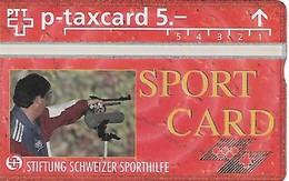 PTT-p: KP-93/56ZJ 507L Stiftung Schweizer Sporthilfe - Pistolenschiessen - Svizzera