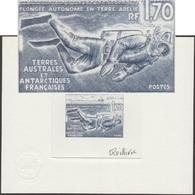 TAAF 1989 Y&T 146. Épreuve D'artiste. Plongée Autonome En Terre Adélie. Plongeur Sous Les Glaces - Buceo