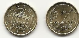 20 Cent, 2019, Prägestätte (J) Vz, Sehr Gut Erhaltene Umlaufmünzen - Deutschland