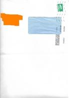MTI GF 39289A Sur 1 Marianne L'engagée Lettre Verte Autocollant - Postmark Collection (Covers)