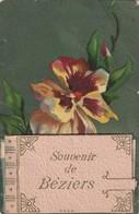 34 / Souvenir /De Beziers , Avec Carnet Des Vues De Beziers Plier Au Niveau Du Carnet - Beziers