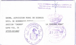 32187. Tarjeta Frontal VALLE De TRAPAGA  (Vizcaya) 1991. Franquicia Ayuntamiento - 1931-Hoy: 2ª República - ... Juan Carlos I