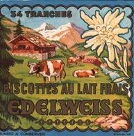 Ancien BUVARD Illustré BISCOTTES AU LAIT FRAIS EDELWEISS - Biscottes