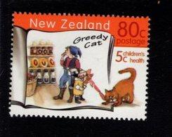 744644501 POSTFRIS  MINT NEVER HINGED EINWANDFREI SCOTT  B164 CHILDRENS HEALTH ANIMALS CAT - Nouvelle-Zélande