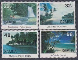 Samoa N° 553 / 56 XX Vues Touristiques,  Les 4 Valeurs Sans Charnière, TB - Samoa