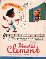 Ancien BUVARD Illustré BISCOTTES CLÉMENT MIREILLE - Zwieback