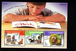 744645599 POSTFRIS  MINT NEVER HINGED EINWANDFREI SCOTT  B165 CHILDRENS HEALTH ANIMALS CAT LION DOG - Nouvelle-Zélande