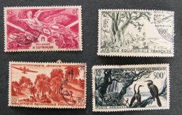 AFRIQUE EQUATORIALE FRANCAISE - AEF - 1946 - YT PA 43 + 50 + 51 + 53 - A.E.F. (1936-1958)