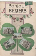 34 / Bonjour De Beziers Avec Trefle A 4 Feuilles - Beziers