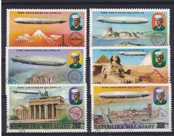 Madagascar 1976, Zeppelin Complete Set, Vfu - Madagascar (1960-...)