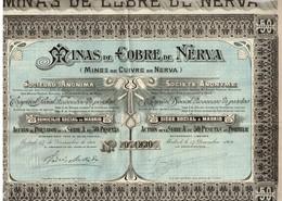 Action Ancienne - Minas De Cobre De Nerva - Titre De 1906 - N°071930 - Mines