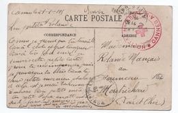 1915 - CP FM Avec CACHET MILITAIRE HOPITAL N° 58 BIS De CANNES (ALPES MARITIMES) - Poststempel (Briefe)