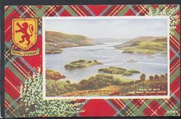 Scotland Postcard - Kyles Of Bute From Above Caladh Castle - Royal Stewart Tartan - Art Colour No A1749 -  DC1975 - Bute