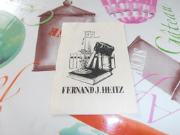 Ex Libris  E-L Fernand J. Heitz - Ex-libris