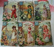 CHROMOS LES 12 MOIS DE L'ANNEE. TRES BELLE COULEUR ET TOUTES GAUFRES - Victorian Die-cuts