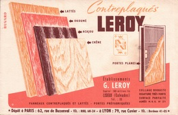Ancien BUVARD Illustré Contreplaqués LEROY - Blotters