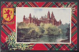 Scotland Postcard - Art Galleries, Glasgow - Royal Stewart Tartan - Art Colour No AI0II -  DC1974 - Lanarkshire / Glasgow